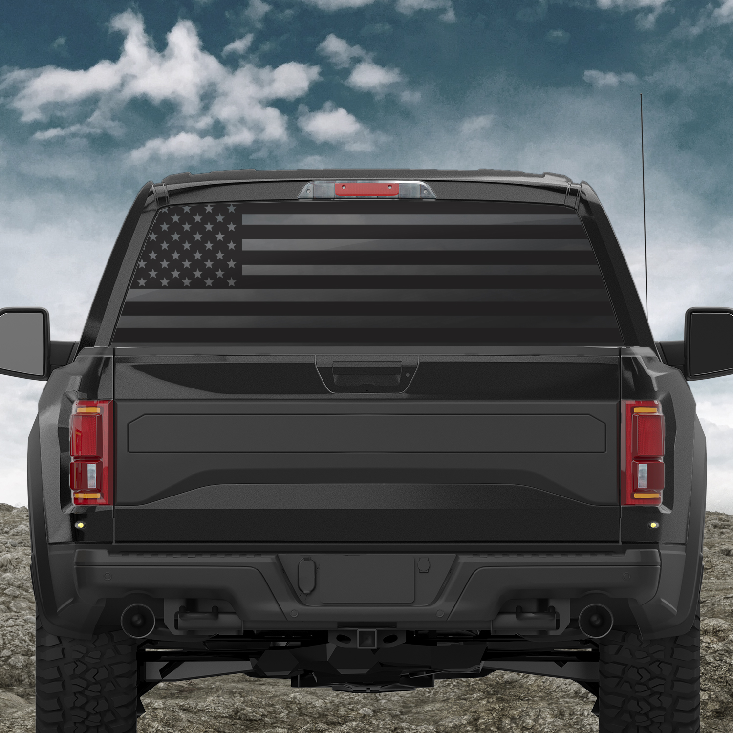 American Flag Large Back Window Decal Indianola Window Tint